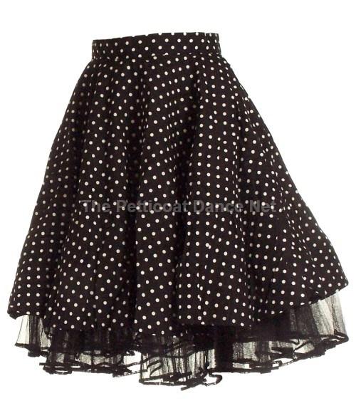 voortreffelijk ontwerp beperkte garantie ziet er geweldig uit Phaze zwarte cirkel rok met witte dots